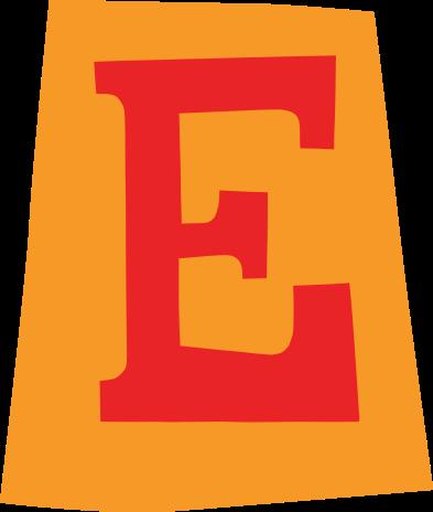 default gefeliciteerd letter e 01