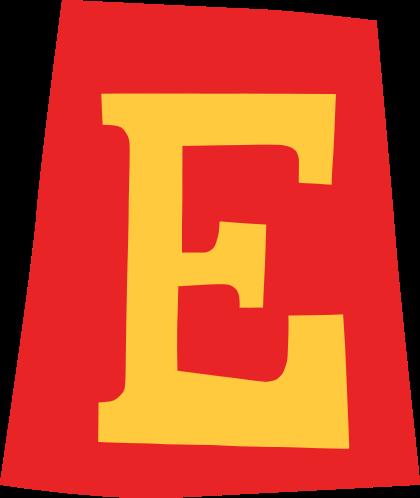 default gefeliciteerd letter e 02