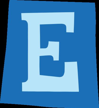 default gefeliciteerd letter e 03