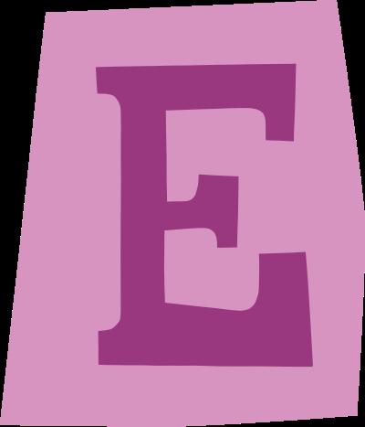 default gefeliciteerd letter e 04