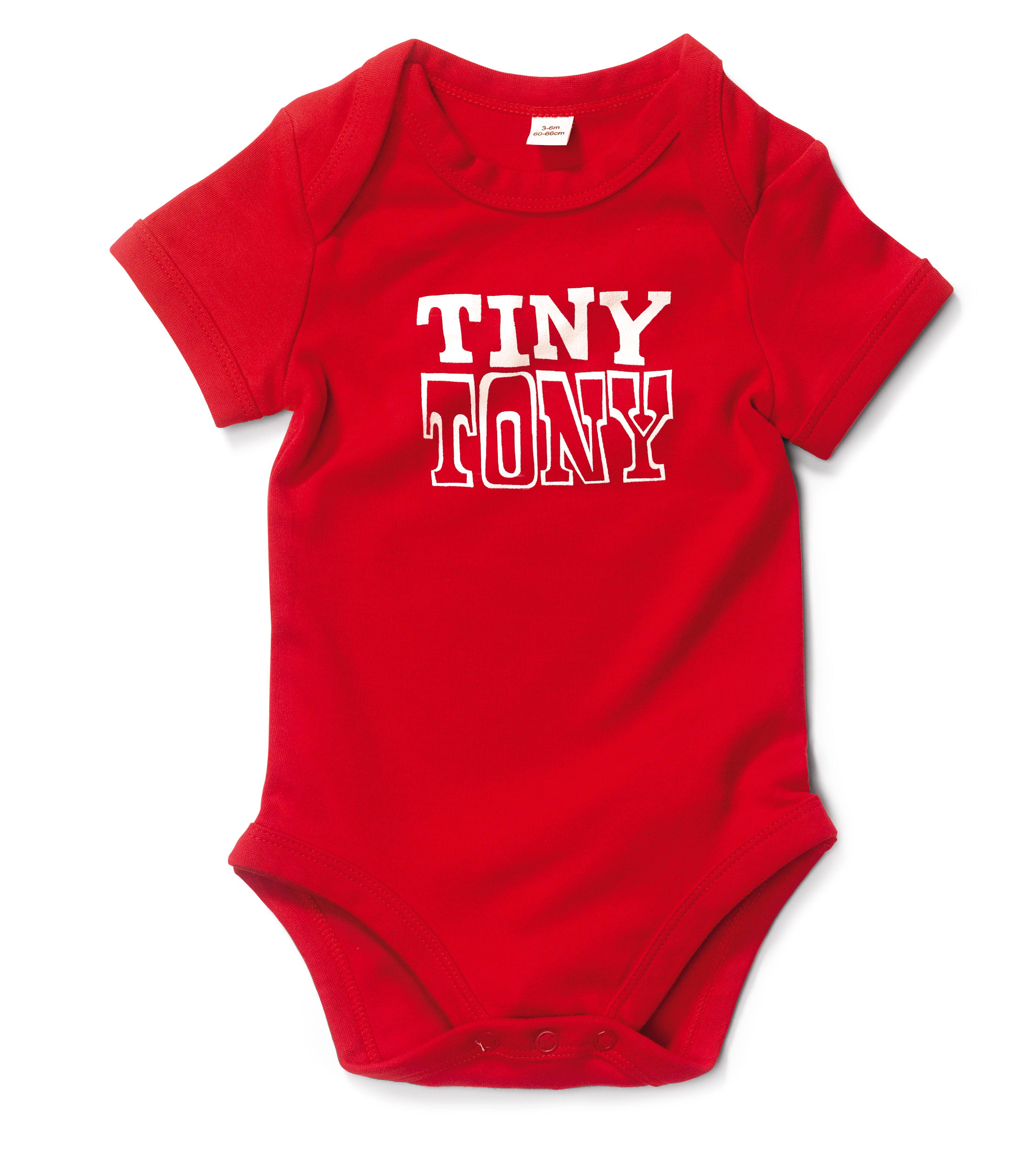 romper red Tiny Tony