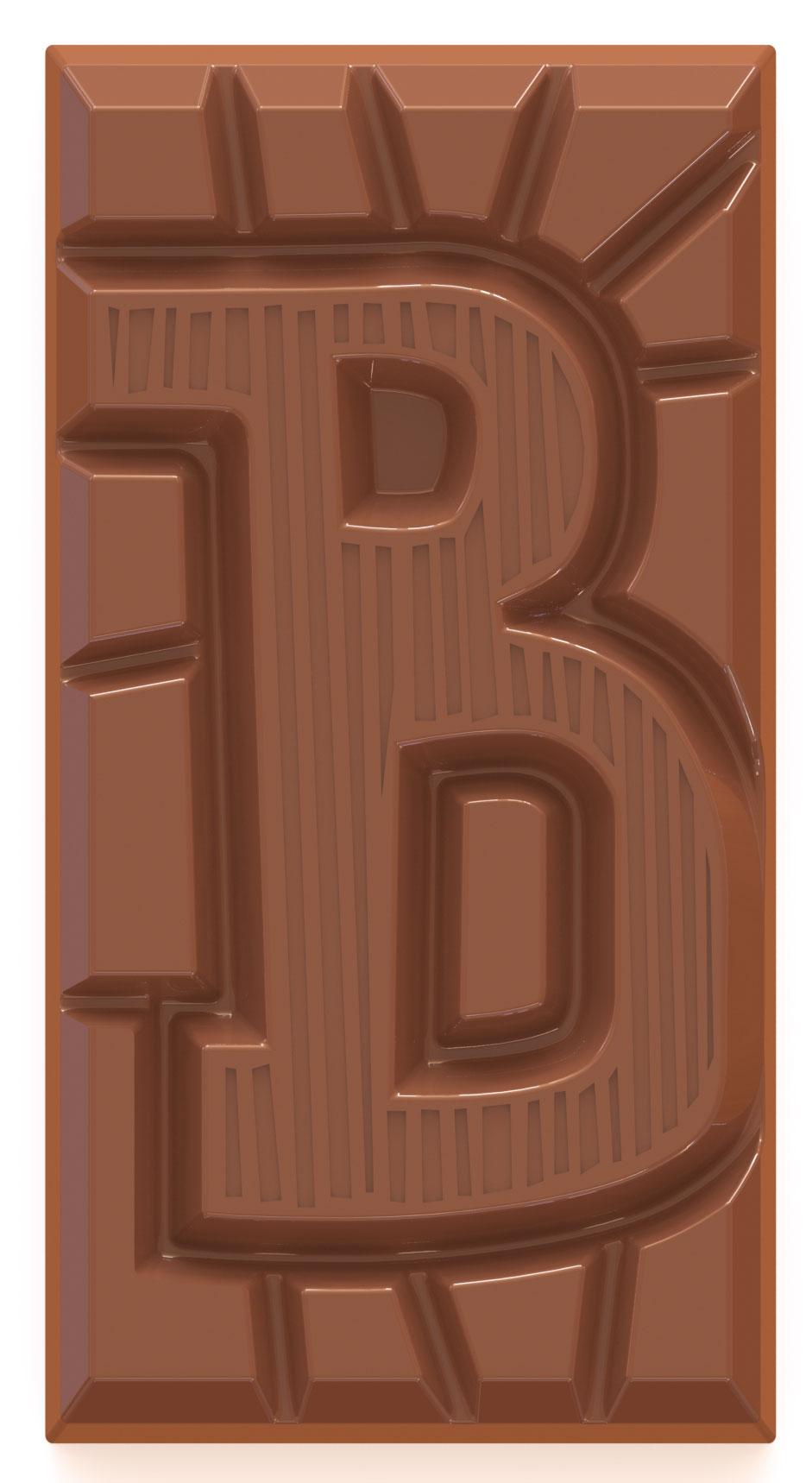 chocolate letter bar milk B
