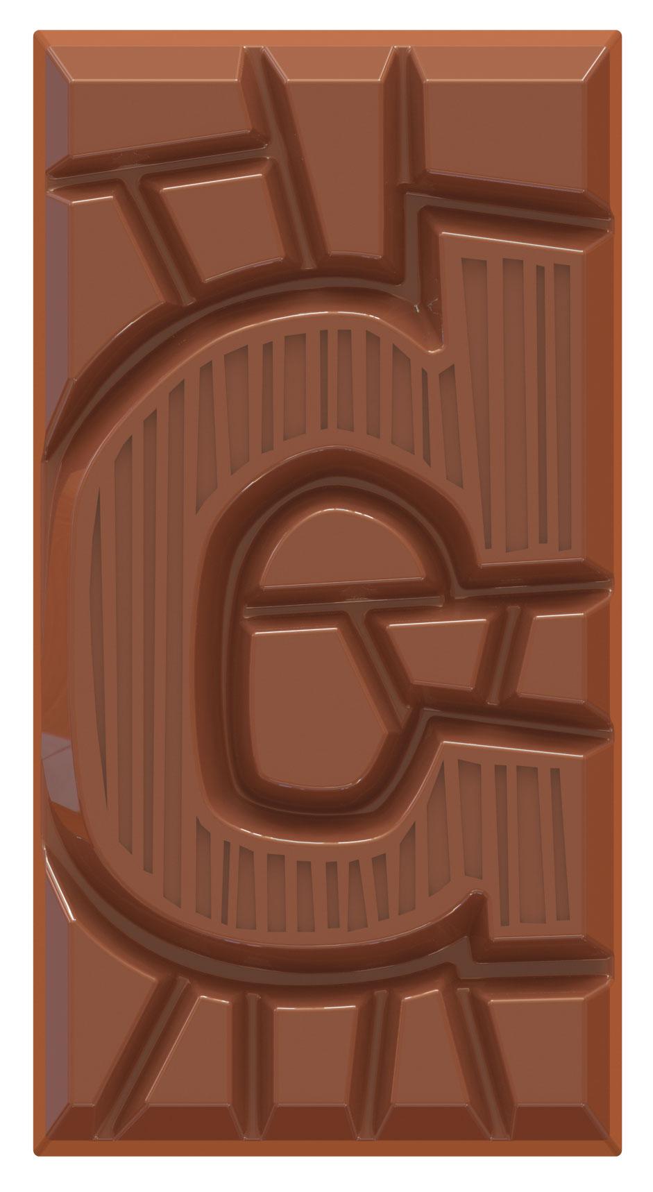 chocoladeletter reep melk C