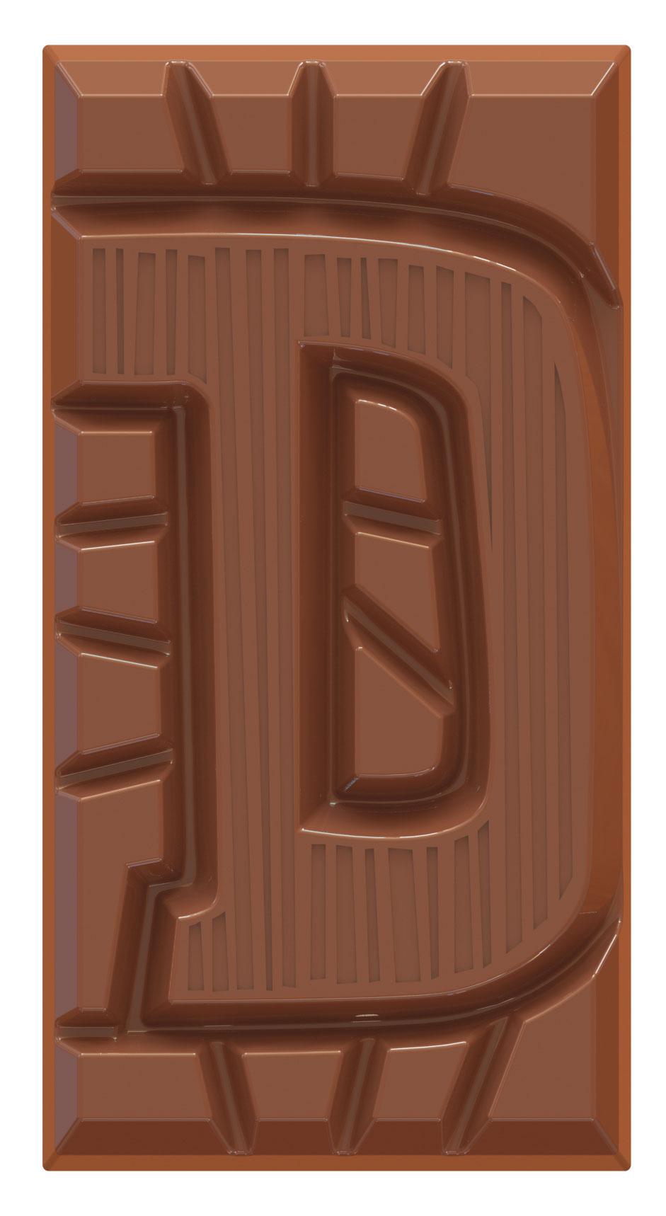 chocoladeletter reep melk D