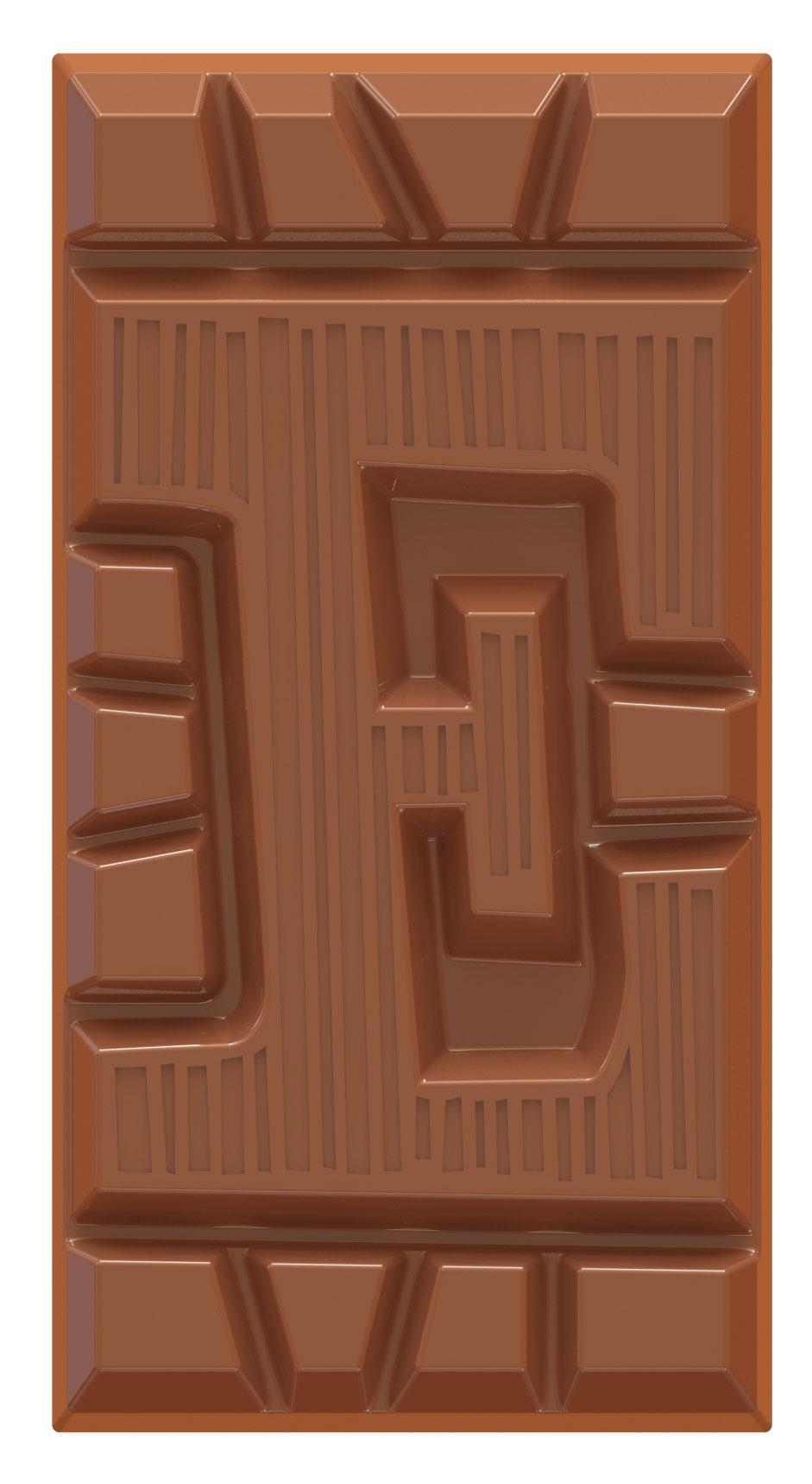 chocoladeletter reep melk E