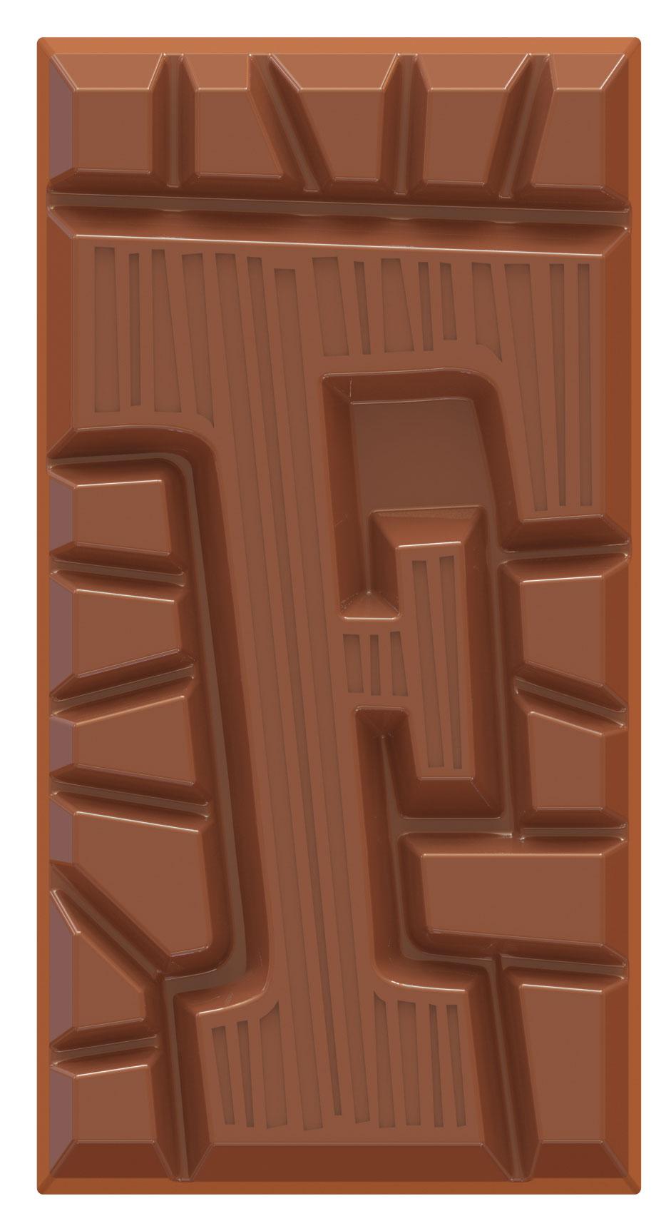 chocolate letter bar milk F