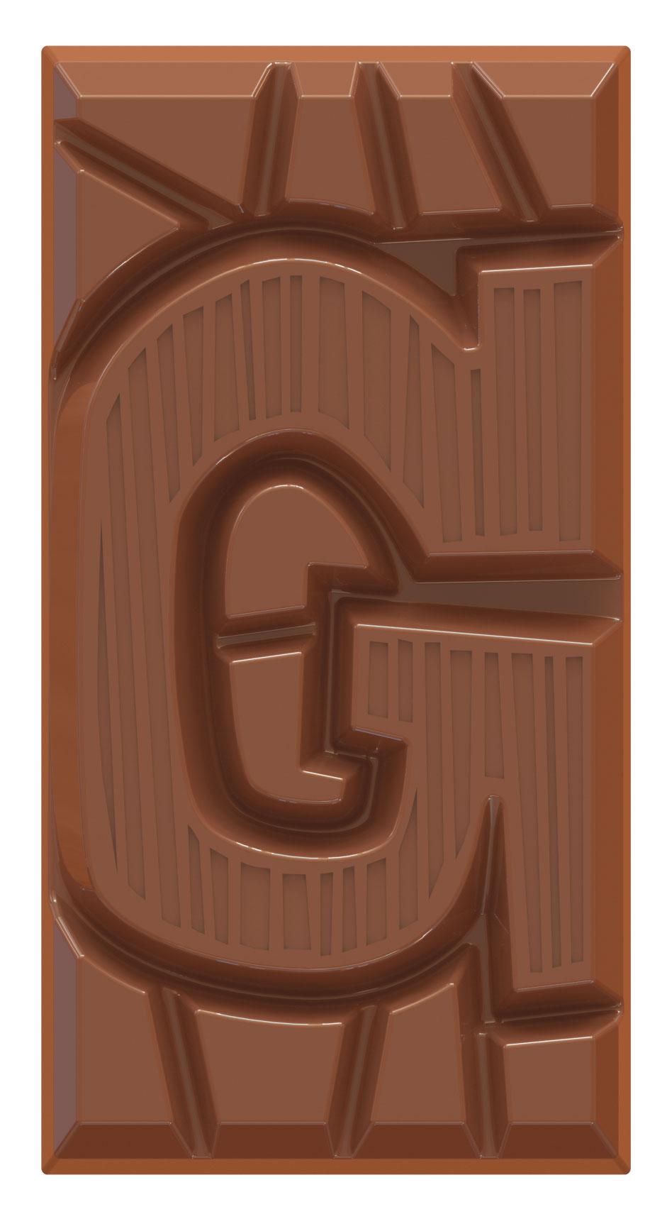 chocoladeletter reep melk G