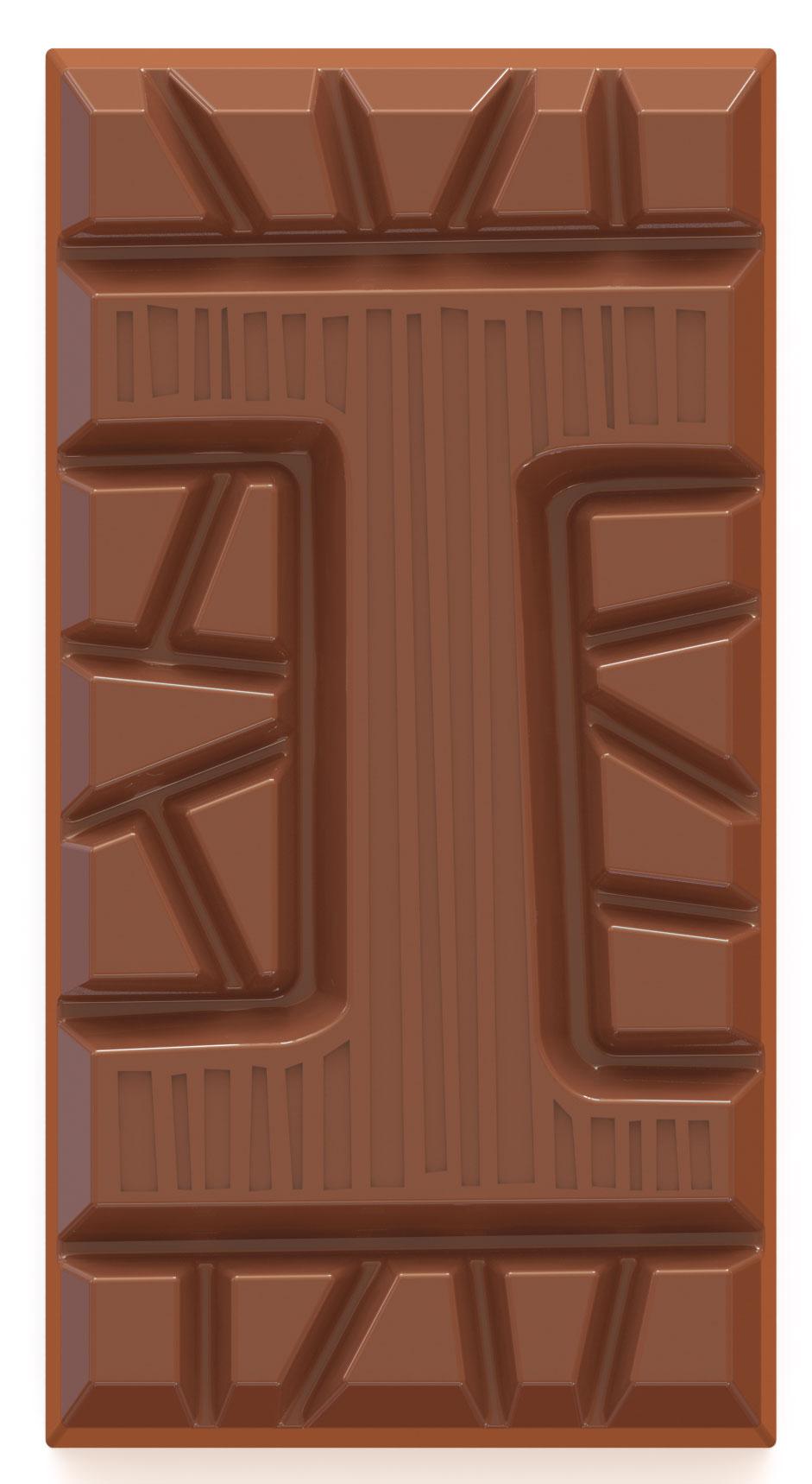 chocolate letter bar milk I
