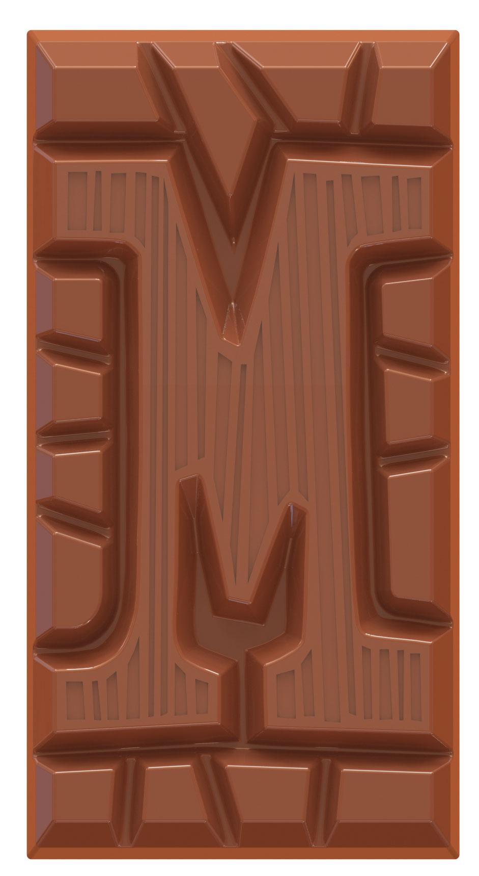 chocolate letter bar milk M