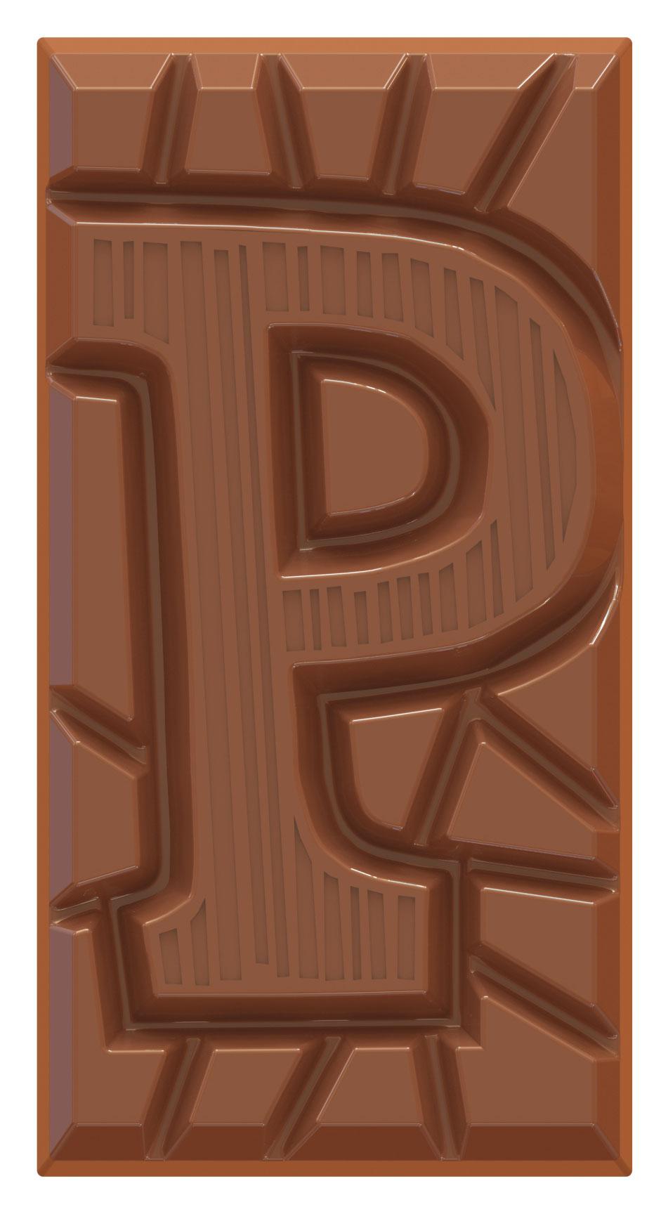 chocolate letter bar milk P