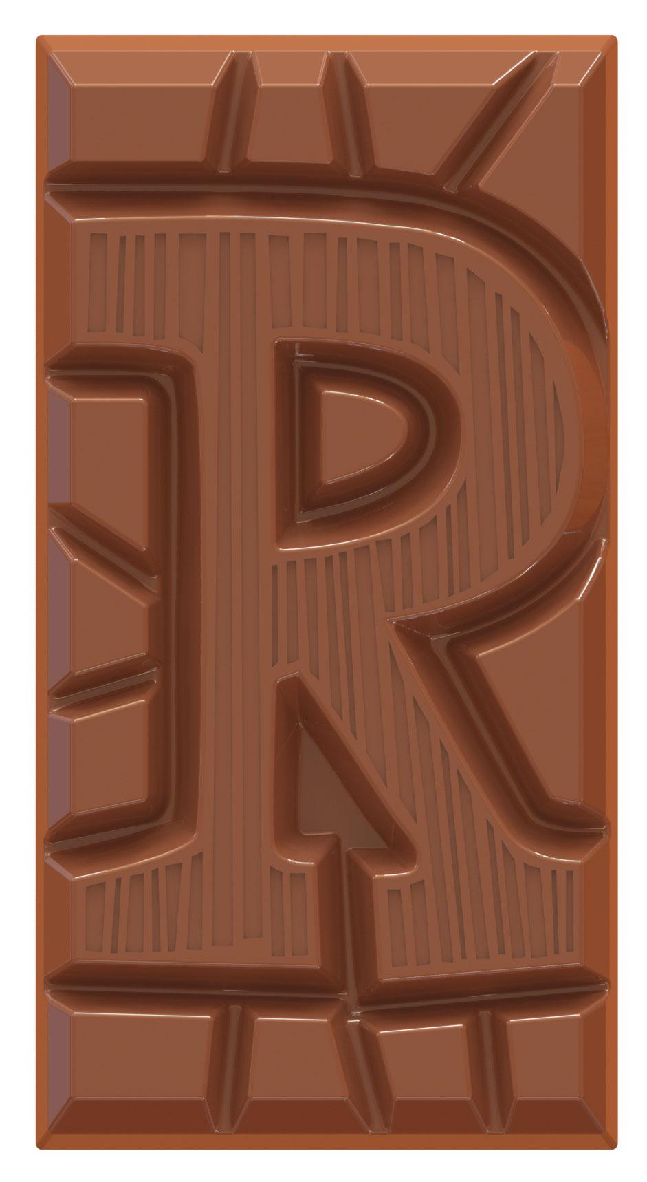 chocolate letter bar milk R