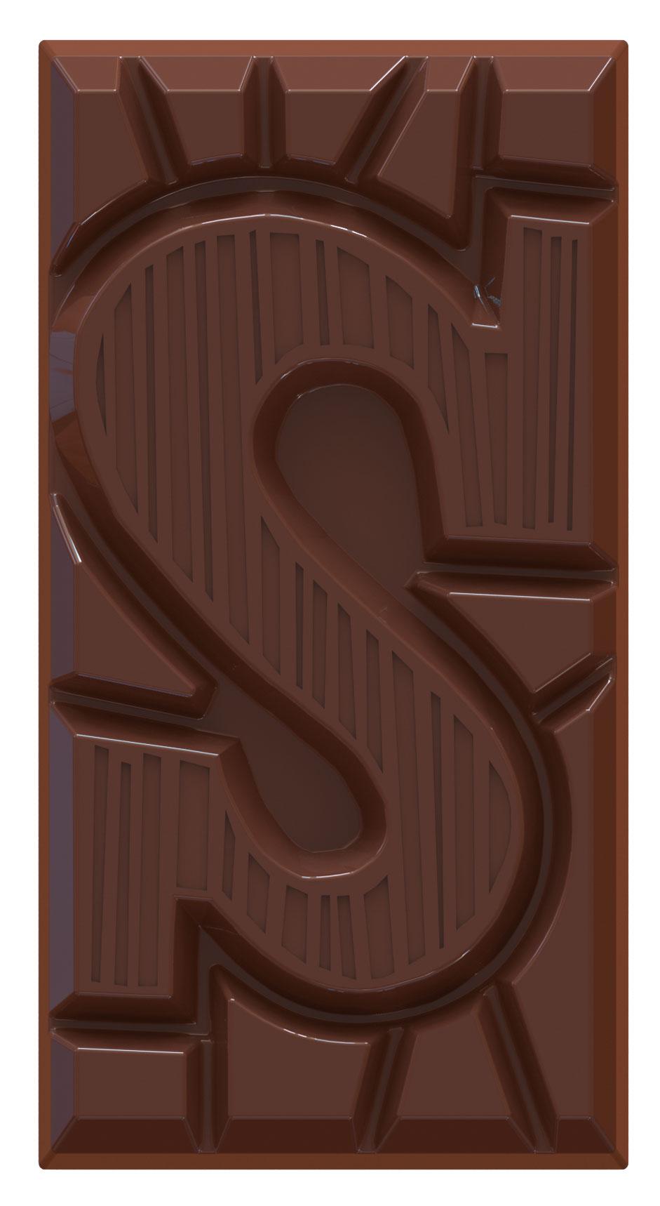 chocoladeletter reep S 51% puur