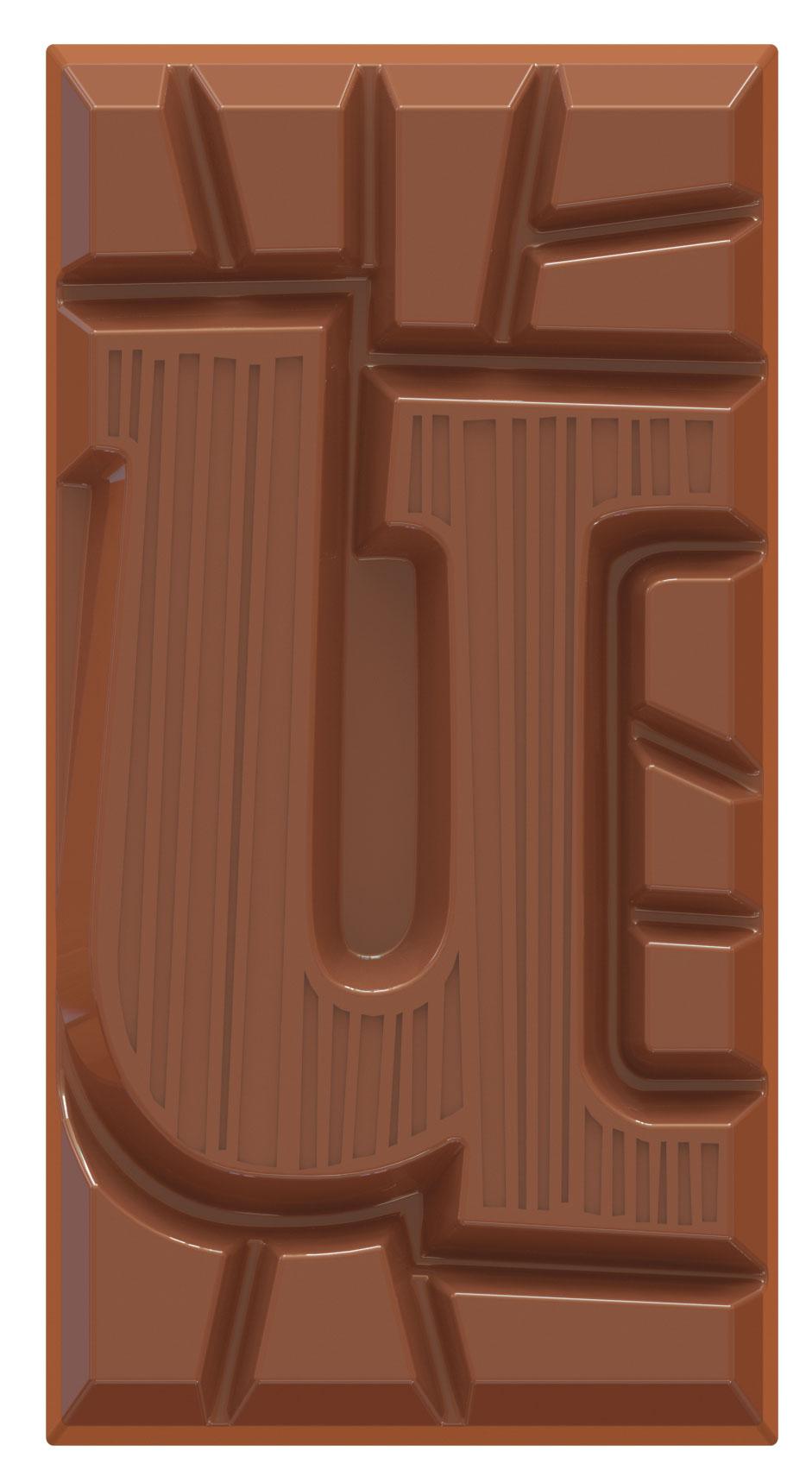 chocoladeletter reep melk U