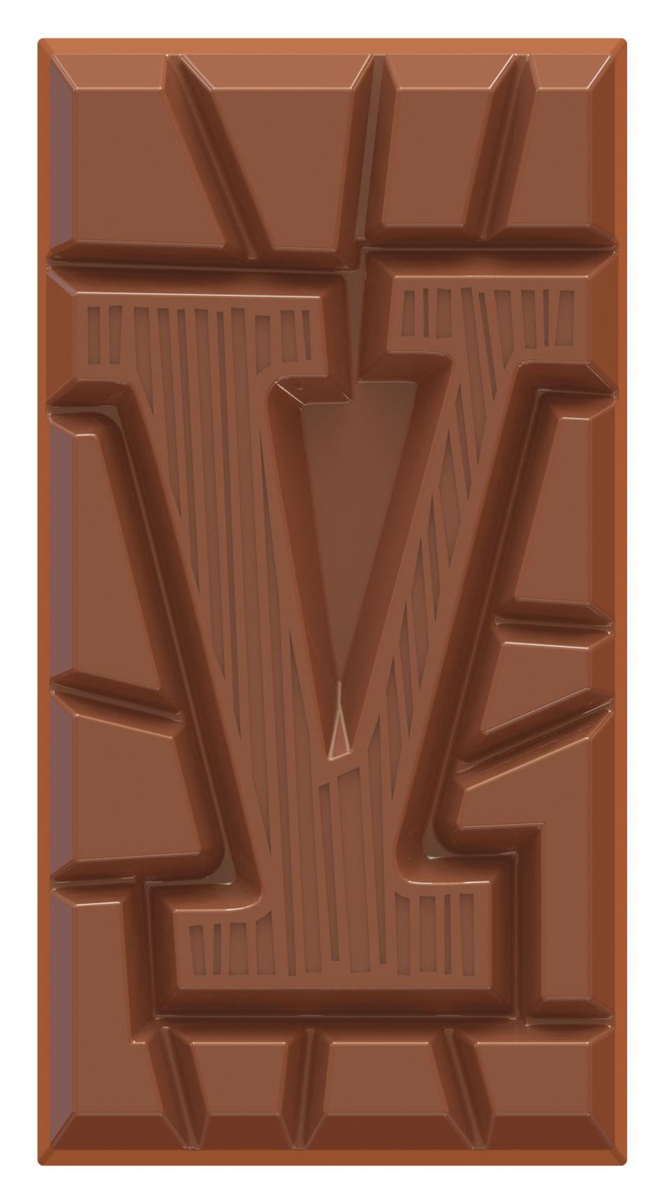 chocolate letter bar milk V