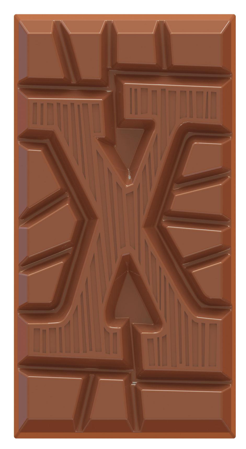 chocoladeletter reep melk X