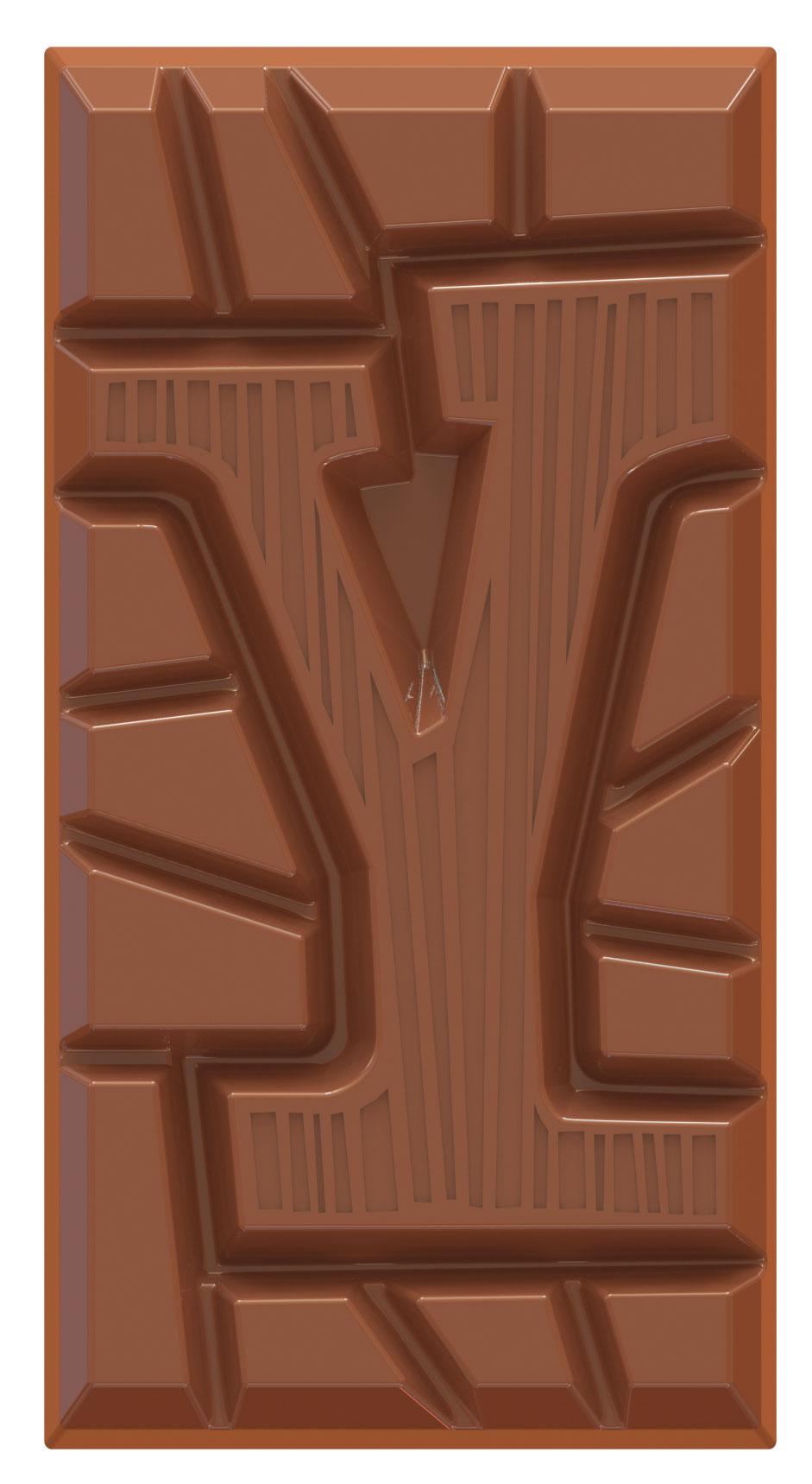 chocolate letter bar milk Y