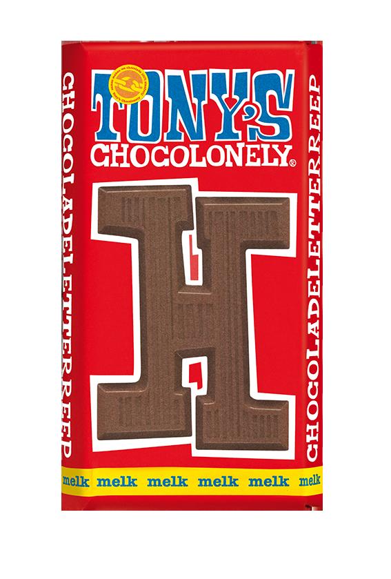 chocoladeletter reep melk H