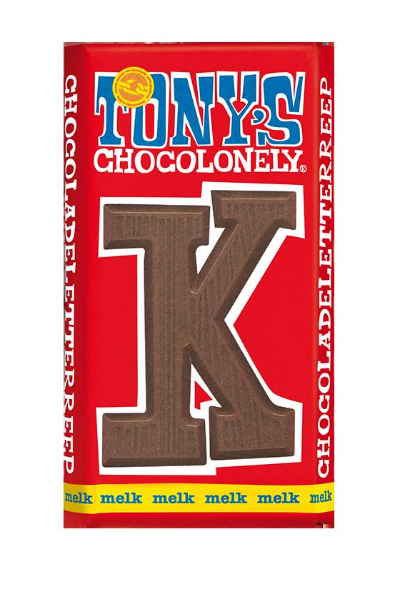 chocoladeletter reep melk K