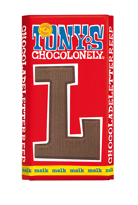 chocoladeletter reep melk L