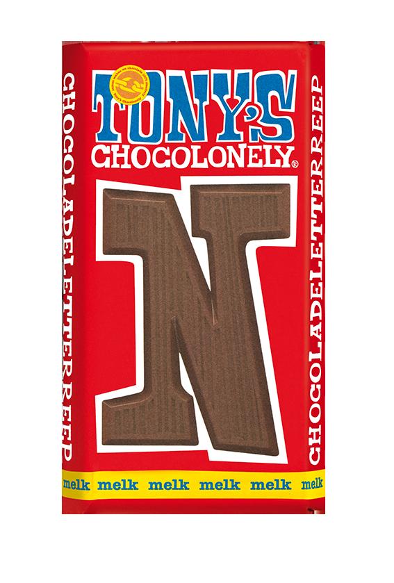 chocolate letter bar milk N