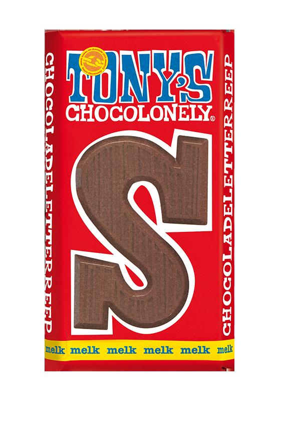 chocoladeletter reep melk S