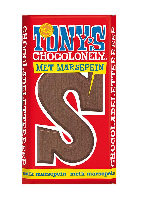chocolate letter bar milk marzipan S