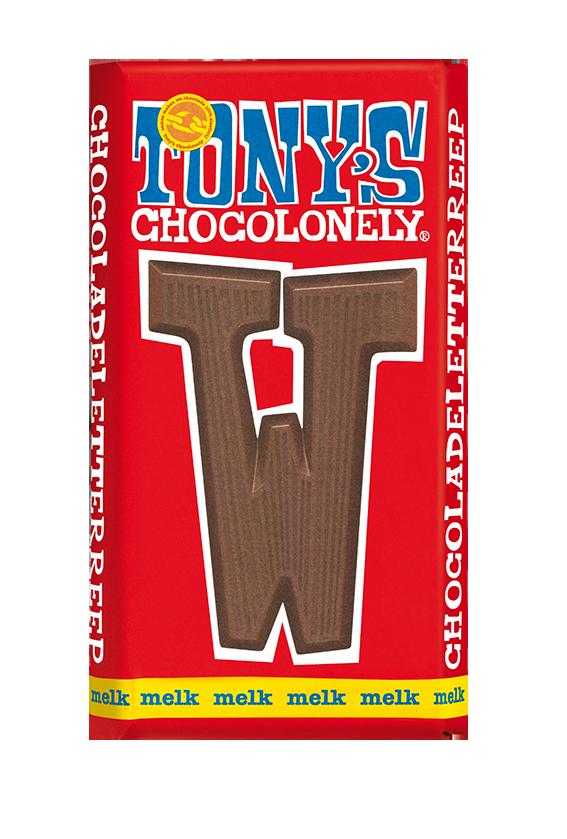 chocolate letter bar milk W