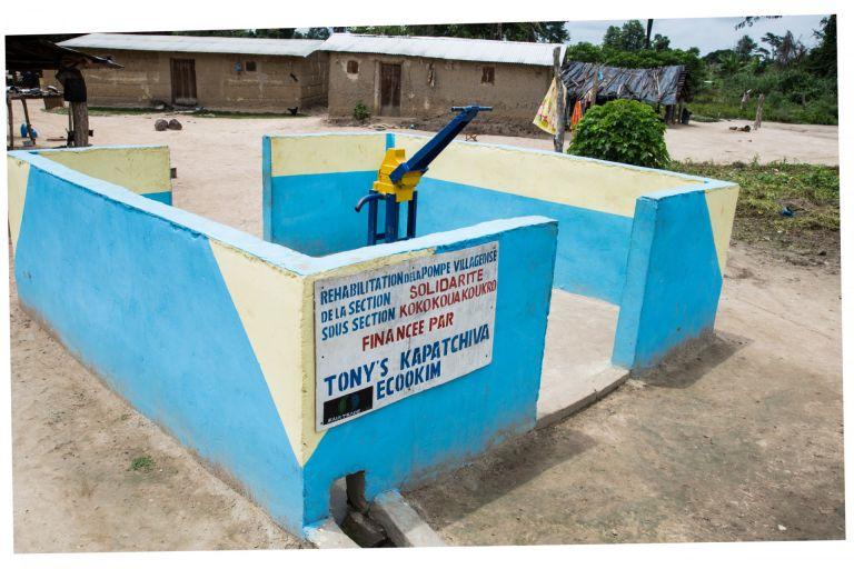 water pumps in the communities