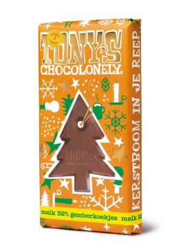 Christmas bar milk ginger biscuit