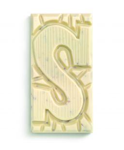 Witte chocolade letterreep pepern S, 180gr FT, 1