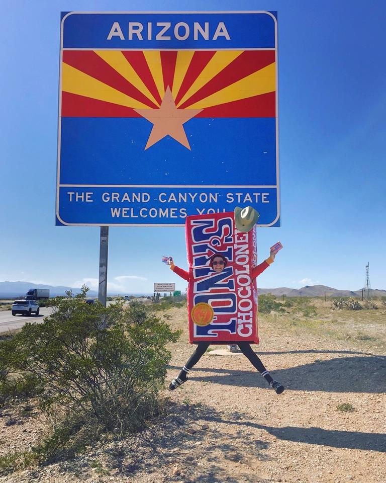 We made it Arizona. Yippee! We can't wait to share our chocolate and our story with you. Will you join us on our Bean to Bar Journey? Here's where we'll be:<br />3/19 - Tucson, La Encantada Shopping Center<br />3/22 - Glendale, Arrowhead Towne Center<br />3/22 - Surprise, Giants vs Royals Spring Training<br />3/23 - Gilbert, SanTan Village<br />3/24 - Chandler, Chandler Fashion Center<br />3/27 - Tempe, Arizona State University