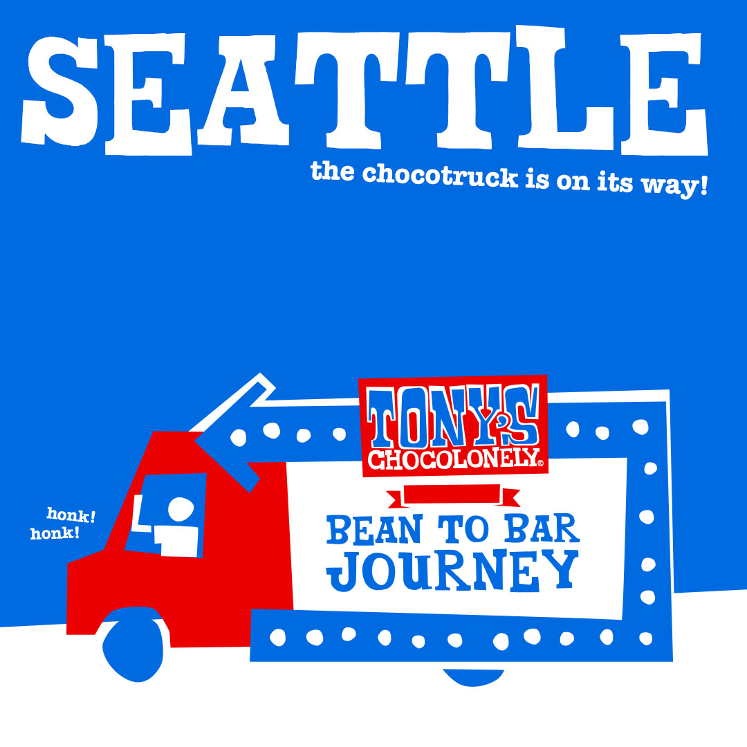 "Hey, Seattle. Guess what.. you're the very first stop on our third ever Bean to Bar Journey tour! Can we get a ""woohoo"" for that? If you're lookin' to come by, here's where we'll be:<br /><br />March 6th: Whole Foods Bellevue 12-4 pm<br />March 7th: PCC Edmonds 3-8 pm<br />March 8th: PCC Issaquah 10am - 3pm<br /><br />Do you want more details about the tour? Sweet! We've got a link in our bio that'll tell ya all about it."